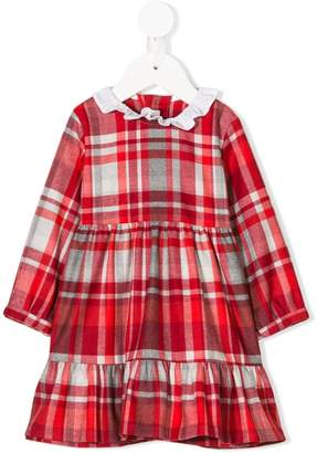 Il Gufo long sleeve checked dress