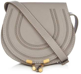 Chloé Marcie Mini Leather Cross Body Bag - Womens - Grey