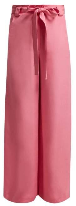 Rosemont Wide Leg Silk Trousers - Womens - Pink