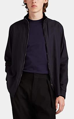 Giorgio Armani Men's Cotton Seersucker Shirt Jacket - Navy