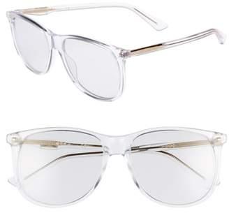 Gucci 80s 56mm Sunglasses