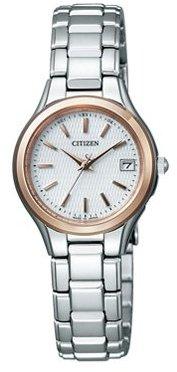 [シチズン]CITIZEN 腕時計 Eco-Drive エコ・ドライブ 電波時計 チタンドレスペア ES1014-52A レディース