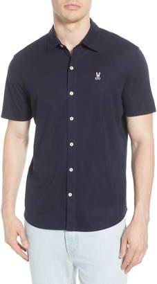 Psycho Bunny Oxford Short Sleeve Pima Cotton Button-Up Sport Shirt