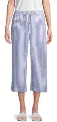 BeachLunchLounge Striped Linen & Cotton Blend Pants