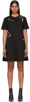 McQ Black Beaded Babydoll Dress