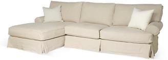 Comfy Slipcovered Sectional - Natural Linen - Rachel Ashwell