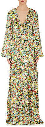 BY. Bonnie Young Women's Floral Silk Ruffle Maxi Dress $2,600 thestylecure.com