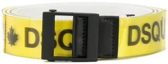 DSQUARED2 logo printed belt