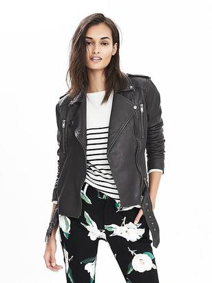 Classic Leather Moto Jacket $448 thestylecure.com