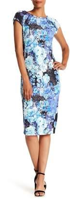 ECI Floral Cap Sleeve Scuba Dress