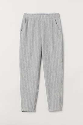 H&M Ankle-length Pull-on Pants - Gray