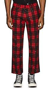 R 13 Women's Plaid Cotton Flannel Trousers-Red