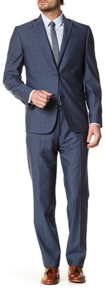 JB BRITCHES Navy Wool Two Button Notch Lapel Standard Fit Suit $495 thestylecure.com