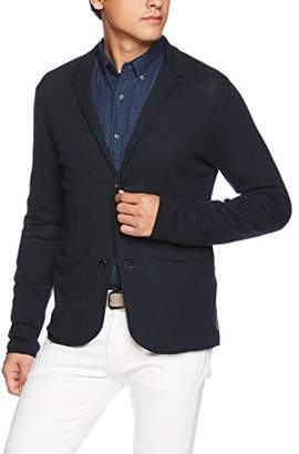 Armani Exchange A|X Men's Long Sleeve Blazer Covered with Armani Logo