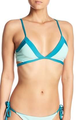 Splendid Color Blocked Bralette Bikini Top