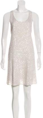 Alice + Olivia Embellished Silk Dress