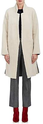 Boon The Shop Women's Suede-Striped Shearling Coat - Light Greige, Spice band