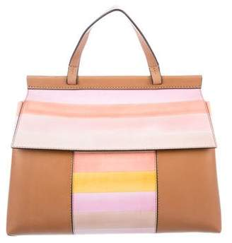 Tory Burch Stripe Block-T Satchel
