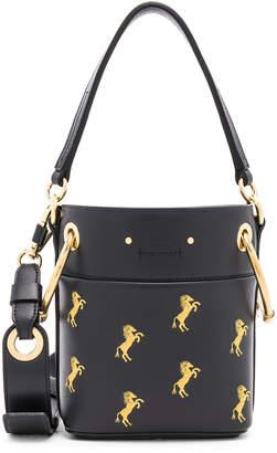 Chloé Mini Roy Horse Embroidered Bucket Bag