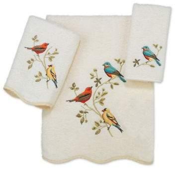 Premier Songbirds Bath Towel in Ivory
