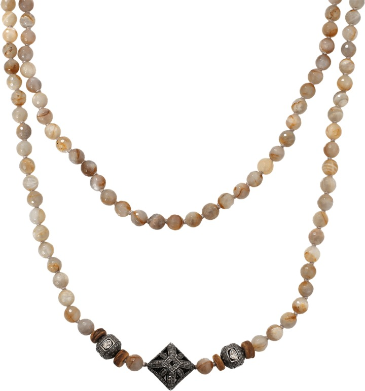 S. CARTER DESIGNS Taupe Moonstone Necklace