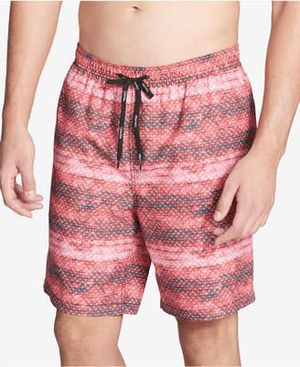 """Calvin Klein Men's Printed 7"""" Swim Trunks, Created For Macy's"""