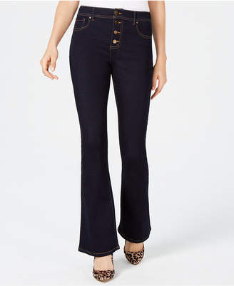 INC International Concepts I.n.c. High Waisted Button-Fly Bootcut Jeans