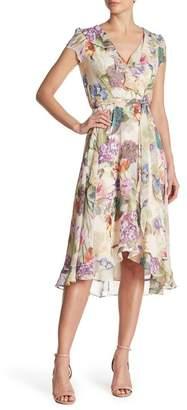 267a86b7fed Gabby Skye Surplice V-Neck Floral Print Ruffle Dress