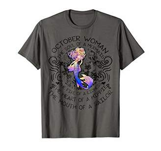 October Woman The Soul Of A Mermaid T Shirt