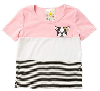 Lily Bleu Striped Screen Tee (Little Girls)