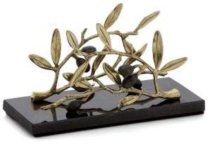 Michael Aram Olive Branch Vertical Napkin Holder