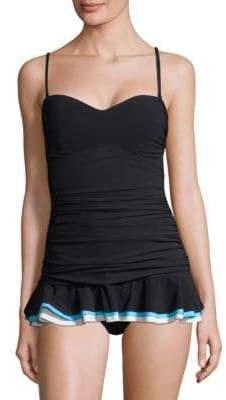 Gottex Swim Tutti Frutti Peplum Swim Dress