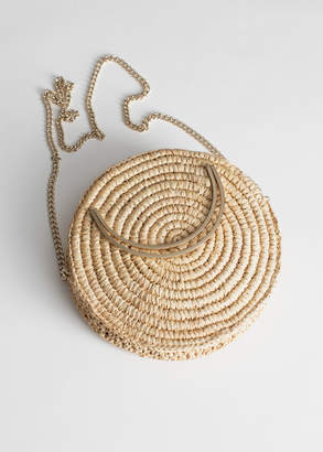 And other stories Woven Straw Crossbody Bag