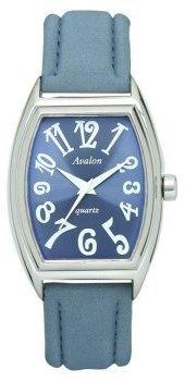 Avalon Women 'sシルバートーンホワイトpatent-look PU Strap Watch # 7380-white-pat
