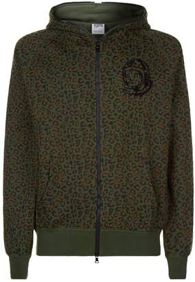 Billionaire Boys Club Leopard Print Zip Up Hoodie