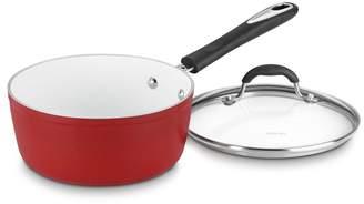 "Cuisinart Red Aluminum White 3"" QT Saucepan"