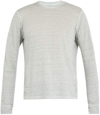120% Lino 120 LINO Long-sleeved linen T-shirt