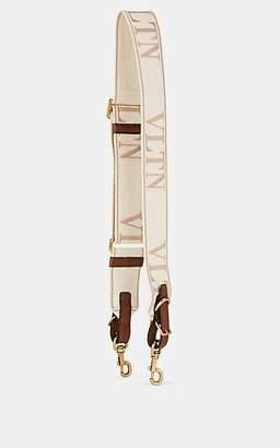 Valentino Garavani Women's Leather-Trimmed Canvas Shoulder Strap - Brown