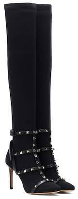 Valentino Rockstud Bodytech over-the-knee boots
