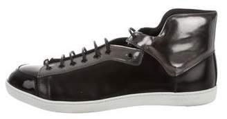 Sergio Rossi Metallic Trim Sneakers