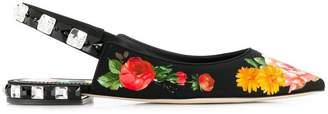 Dolce & Gabbana flower print flat sandals