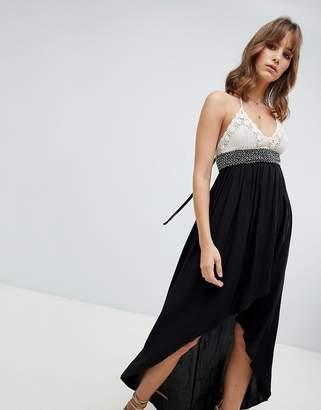 Lunik Hi Lo Maxi Dress With Crochet Top