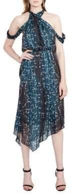 Rachel Roy Printed Cold Shoulder Dress