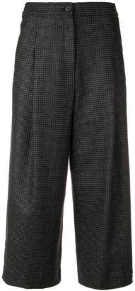 McQ houndstooth cropped trousers