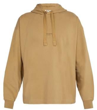 Acne Studios Logo Cotton Jersey Hooded Sweater - Mens - Beige