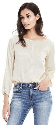 Easy Care Dot Tie-Back Blouse $88 thestylecure.com
