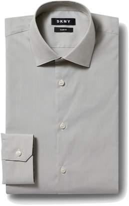 Moss London Skinny Fit Navy Single Cuff Stripe Collar Shirt Size 16.5 Rrp£32.50 Shirts & Tops Formal Shirts