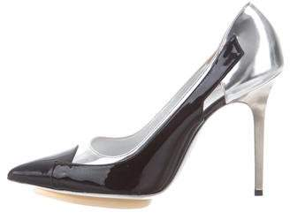 Balenciaga Patent Leather Pointed-Toe Pumps