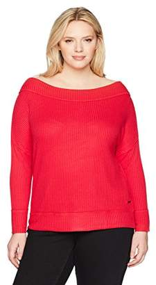 Lucky Brand Women's Waffle Thermal Plus-Size Top