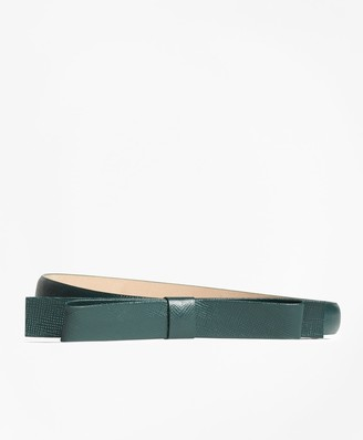Brooks Brothers Leather Bow Belt